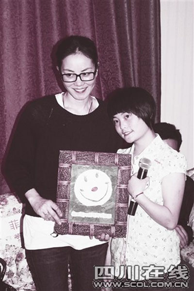 王菲收到母亲节的礼物