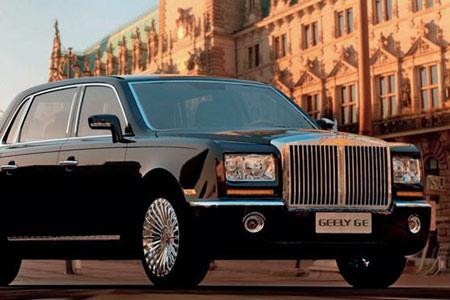 吉利希望向中国消费者出售高档车来扩大自己的市场,吉利卓越形似劳斯莱斯幻影。