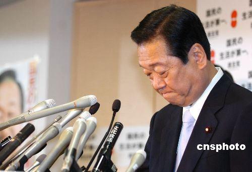 当地时间5月11日下午5点,日本最大在野党民主党党首小泽一郎,在位于东京的民主党总部召开紧急记者会宣布辞职。 中新社发朱沿华摄