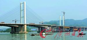 九江大桥断桥合龙。