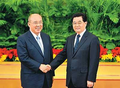 2008年,胡吴会面(资料图)