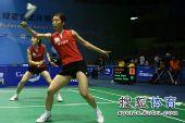 图文:苏杯中国香港VS日本保级战 日本女双组合