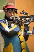 图文:德国站女子10米气步枪 美国选手拜尔勒