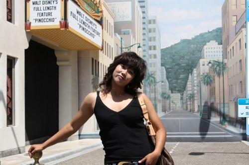 图文:韩端畅游迪斯尼 静静的街头