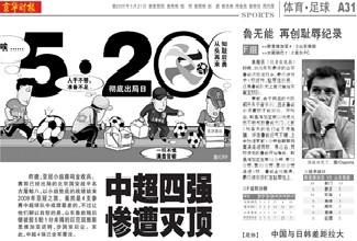 《京华时报》:鲁无能,再创耻辱记录