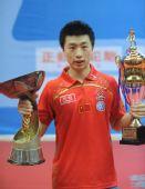 图文:乒乓球亚洲杯落幕 男单决赛马龙夺冠军