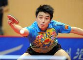 图文:乒乓球亚洲杯落幕 王皓负马龙获得亚军