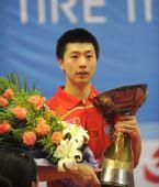 图文:乒乓球亚洲杯落幕 马龙男单夺冠面容腼腆