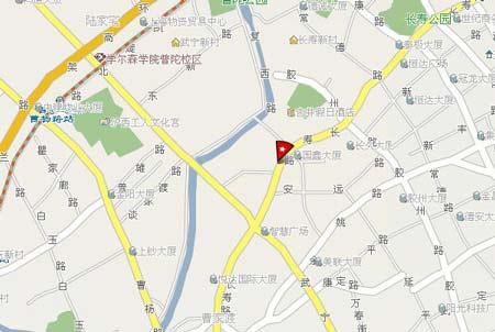 事发地点为上海市普陀区武宁路家乐福附近的汇丽花园小区。网络地图截图