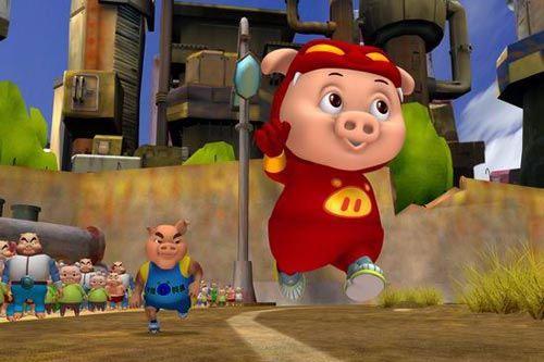 游戏以动画片 猪猪侠 为故事
