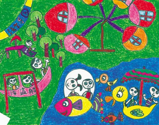 """《迎""""六一""""我心中的沈阳游乐园》儿童绘画大赛作品选登(组图)图片"""