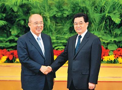 2008年胡锦涛会见吴伯雄