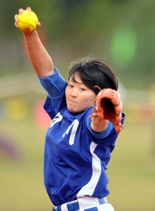 意思:女子图文冠军杯江苏胜四川最先掷球曲棍球的垒球的投手图片