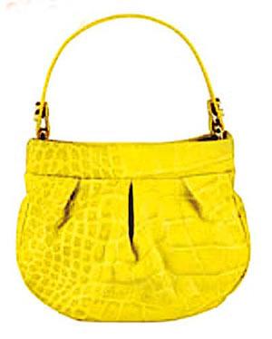 鲜黄色鳄鱼压纹手挽袋 $3,399