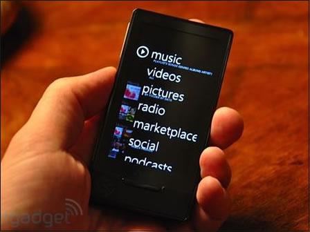 微软MP4: OLED触摸屏 微软Zune HD播放器真机曝光