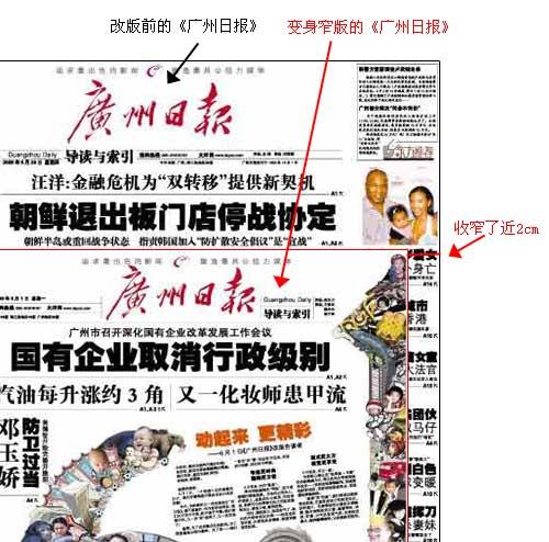 广州日报变脸读者争睹新颜 超七成网友赞新版