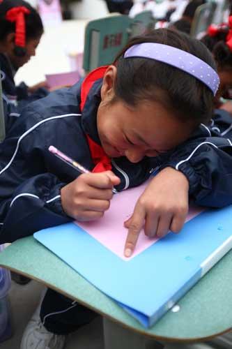孩子们写下小小心愿,I Do一定把它实现