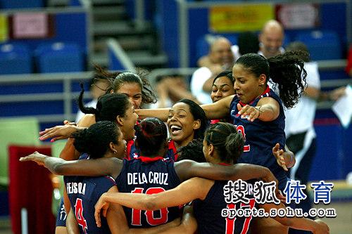 多米尼加庆祝获胜