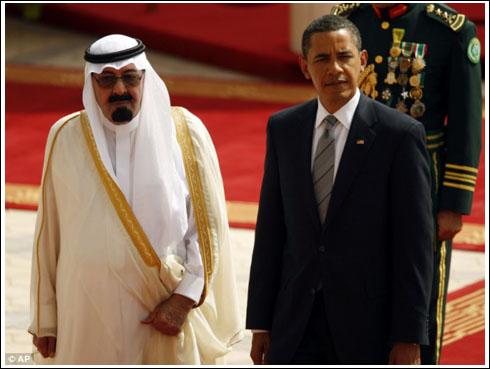 阿卜杜拉/6月3日,沙特阿拉伯国王阿卜杜拉欢迎到访的奥巴马。
