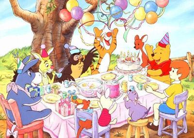 2日报道,迪斯尼公司打算在2011年再次拍摄小熊维尼的动画片.图片