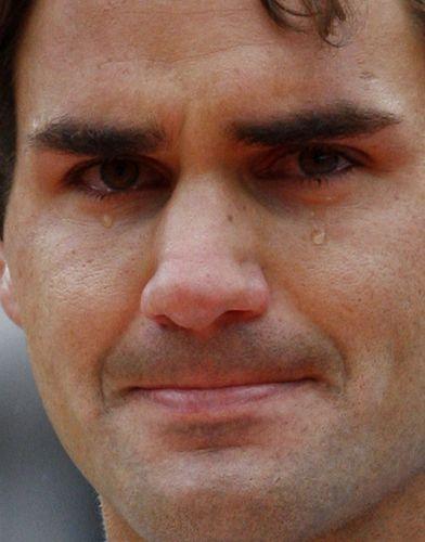 费德勒洒下英雄泪