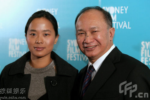 吴宇森与女儿一起亮相悉尼电影节
