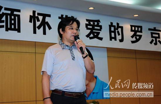 罗京79级同班同学张宇时(人民网记者 徐岩冰 摄)