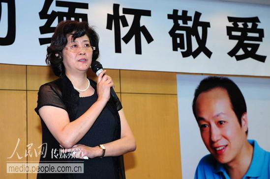 中国传媒大学播音主持艺术学院院长 卢景超(人民网记者 徐岩冰 摄)