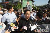 罗京追悼会在八宝山举行 郎永淳向媒体发布信息