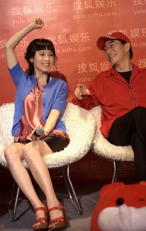 石小群与六小龄童上海电视节上