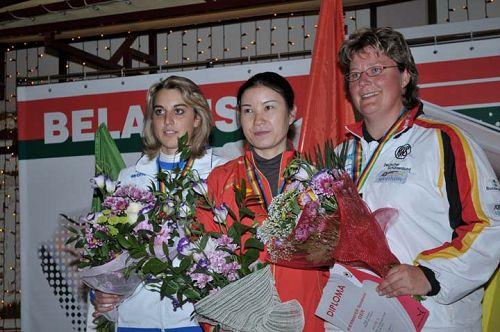 图文:飞碟世界杯明斯克站 前三名选手合影