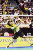 图文:新加坡羽毛球公开赛 蒋燕皎在比赛中