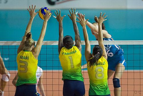 巴西三人拦网