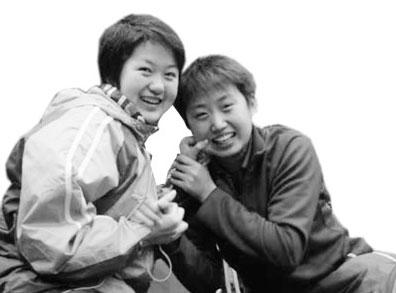 常晨晨(左)与郭跃是老乡,也是最好的朋友。图片摘自常晨晨博客
