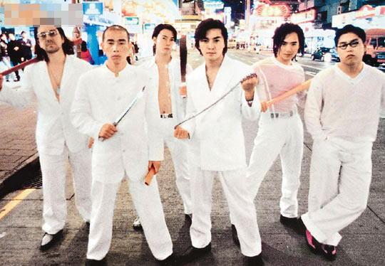 """小春(左一起)、天华、伊健、朱永棠及林晓峰主演的""""古惑仔""""系列深入民心。"""