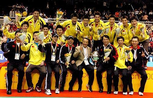 中国男子羽球队梦幻之师 七夺汤姆斯杯奥运四金