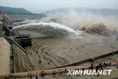 组图:黄河小浪底水库开始第七次调水调沙