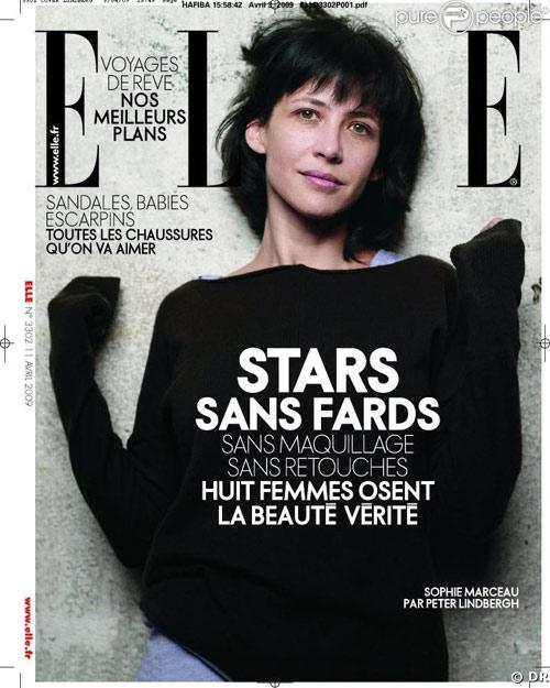 法国版《ELLE》4月号,苏菲-玛索封面