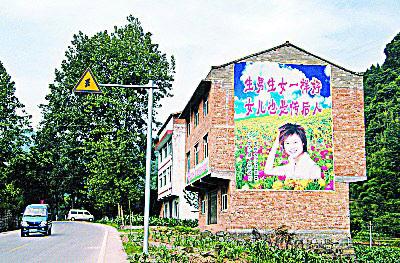 李宇春的肖像上了计生宣传画