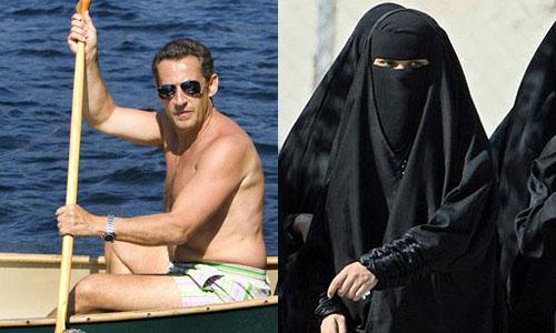 萨科齐批评伊斯兰女性穿长袍