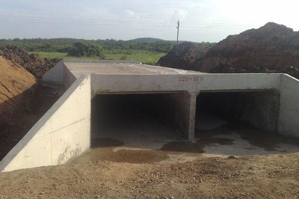118公路项目全线共有152个结构物(包括箱涵和管涵)