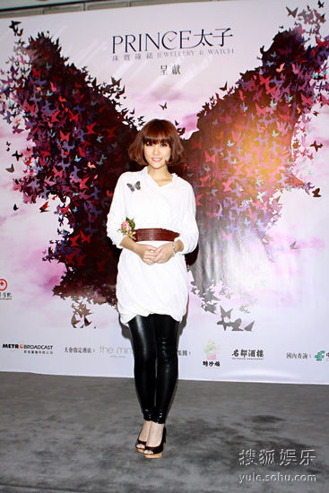 6月16日,香港,谢安琪出席记者发布会。