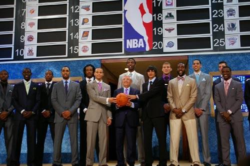图文:[NBA]09NBA选秀 全体合影
