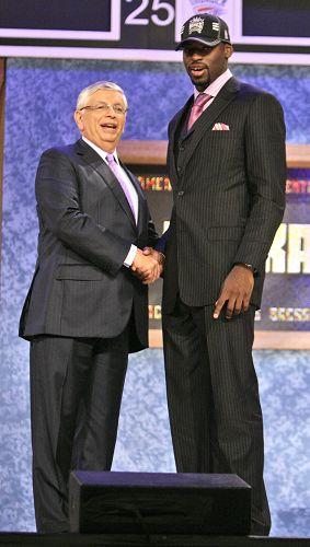 图文:[NBA]09NBA选秀 埃文斯很兴奋