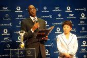 图文:中国奥运代表团获最佳团队 摩西现场主持