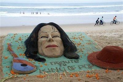 沙滩上的纪念活动