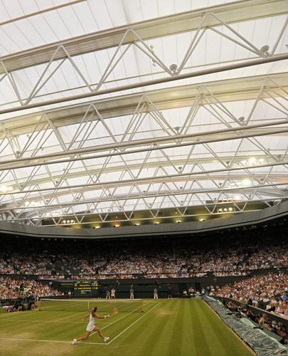 温网球场顶棚首度亮相 中心球场顶棚效果