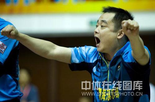 图文:[乒超]八一2-3不敌宁波 刘国栋非常激动