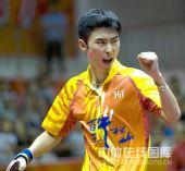 图文:[乒超]八一2-3不敌宁波 杨晓夫握拳怒吼