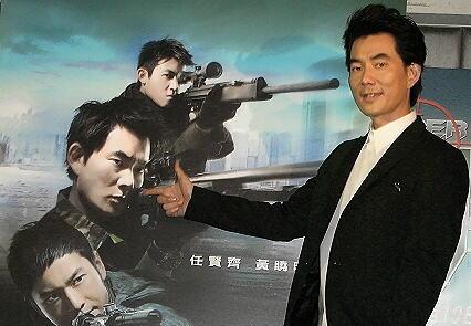 任贤齐宣传《神枪手》时面对陈冠希话题回答得体。